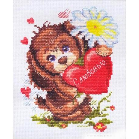 Набор для вышивания арт.ЧИ-16-12 СР 'С любовью' 12х16 см