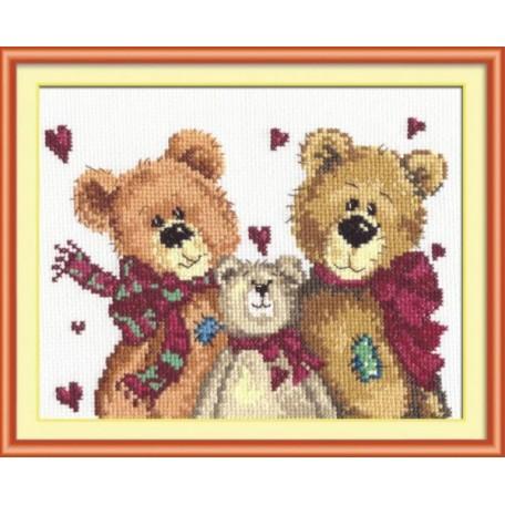 Набор для вышивания арт.ЧИ-17-06 (Д-085) СР 'Три медведя' 18х16см