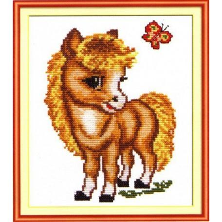 Набор для вышивания арт.ЧИ-18-02 (Д-003) СР 'Весёлая лошадка' 17,5х13,5 см