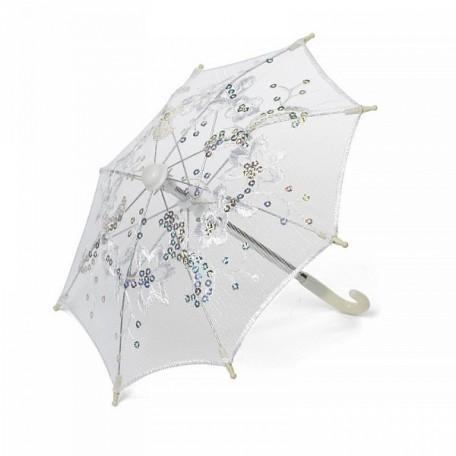 Аксессуар для декора арт.DF.248040154 Зонтик H20,5 D27 белый