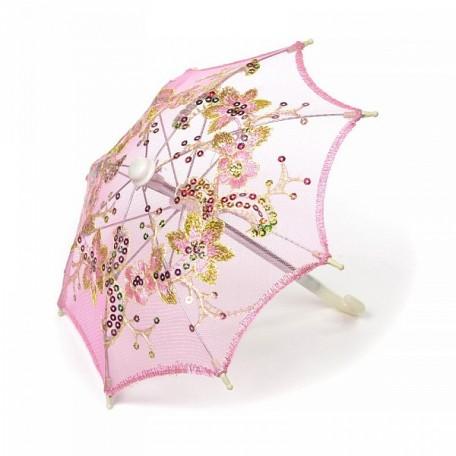 Аксессуар для декора арт.DF.248040558 Зонтик H20,5 D27 розовый
