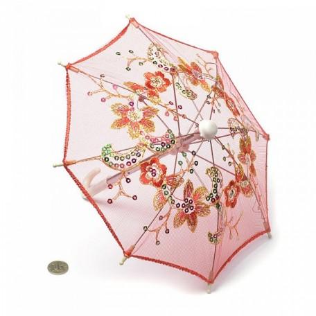 Аксессуар для декора арт.DF.248040634 Зонтик H20,5 D27 красный