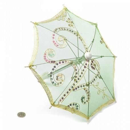 Аксессуар для декора арт.DF.248040949 Зонтик H20,5 D27 зеленый