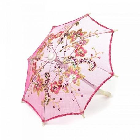 Аксессуар для декора арт.DF.248041604 Зонтик H20,5 D27 ярко-розовый