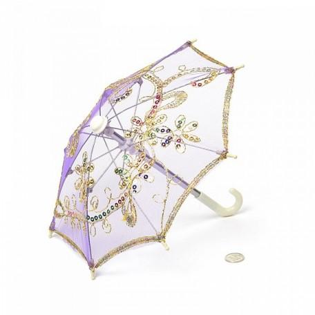 Аксессуар для декора арт.DF.248042750 Зонтик H20,5 D27 фиолетовый