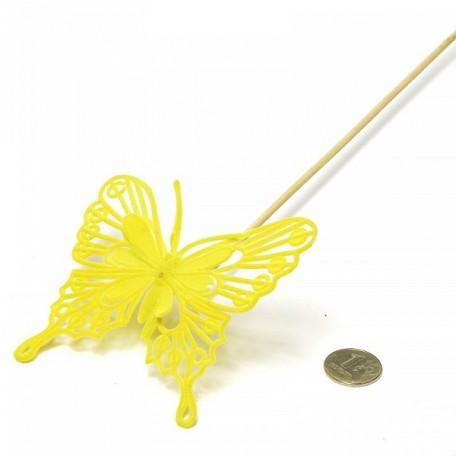 Бабочка барокко на вставке арт.ZA.93135083 8х50см цв.желтый
