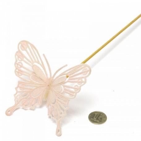Бабочка барокко на вставке арт.ZA.93135084 8х50см цв.розовый