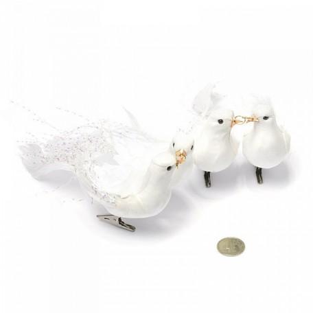 SBU.16106 Свадебные голуби 'Совет да любовь' на прищепке 16 см