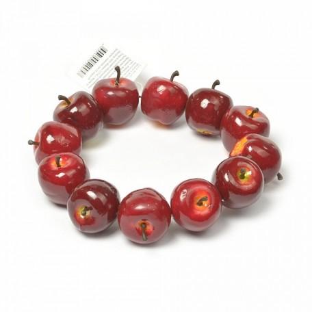 Венок с яблоками PH14616 арт.Ц7.0529957 цв.красный 12см