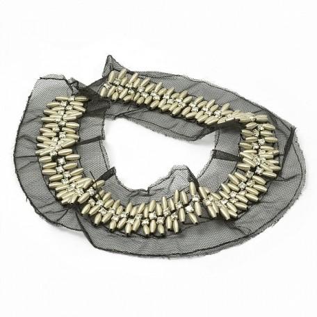 Шеврон 'Пружинка' арт.32115 металлик А