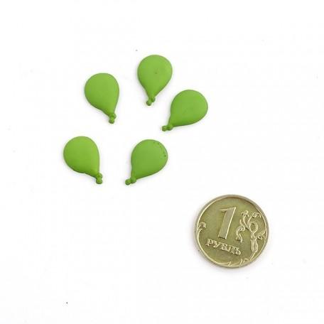 Декоративные элементы арт.HG355 'Воздушные шарики' цв.150 зеленый 15 мм