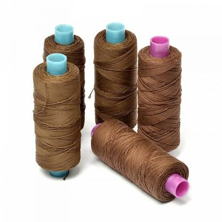 Нить джинсовая цв. коричневый, ассорти 5 кат. 250м
