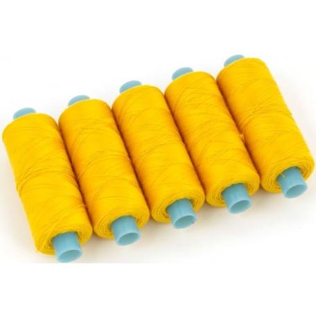 Нить джинсовая цв. т.желтый 5 кат. 250м