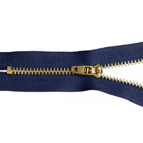 Молния джинсовая золото №4 10см замок М-4002 цв.F330 синий