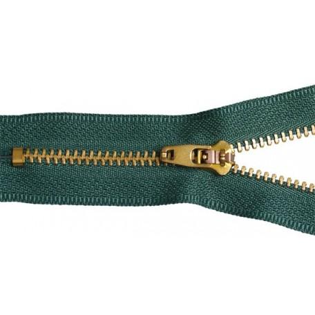 Молния джинсовая золото №4 18см замок М-4002 цв.265 зеленый