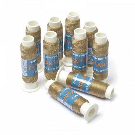 Нить для бисера арт. А100-2555 Ариадна 100м св.коричневый уп. 10шт