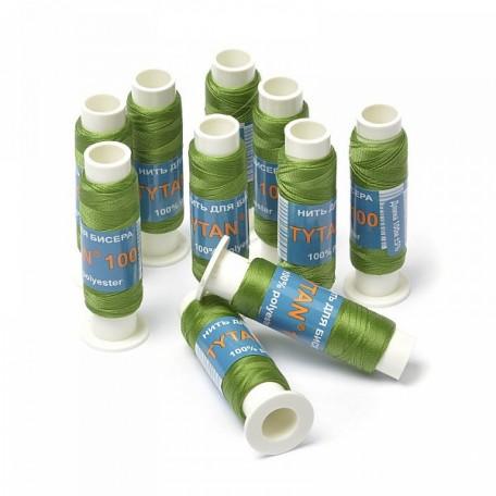 Нить для бисера арт. А100-2576 Ариадна 100м зеленый уп. 10шт