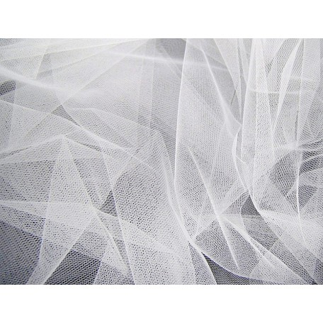 Фатин Д01 арт.09226 жесткий шир.180см цв.белый фас.22,85 м