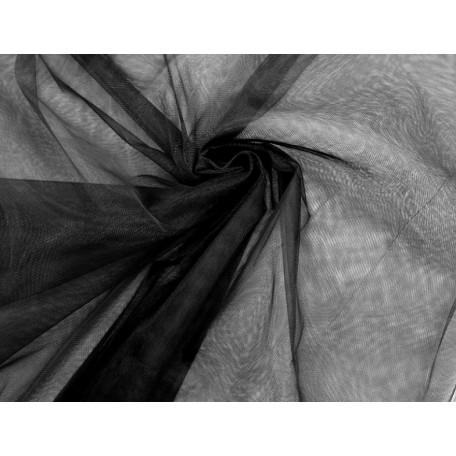 Фатин Д02 арт.13118 средней жесткости шир.160см цв.черный фас.45,7 м