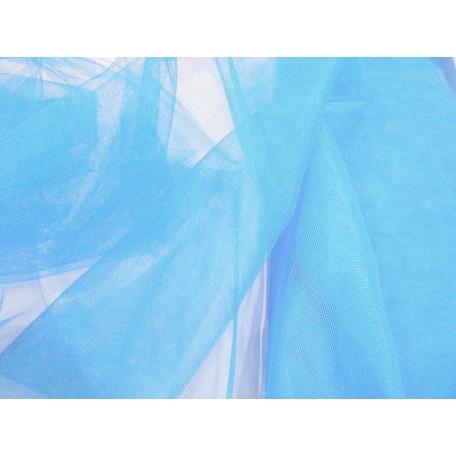 Фатин мягкий шир.150см цв.голубой фас.10 м