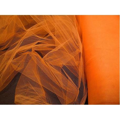 Фатин мягкий шир.150см цв.оранжевый фас.10 м