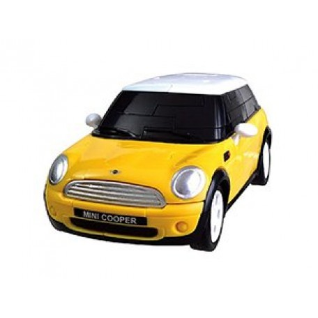 БМ.57076 Модель Пазл 3D Mini Cooper матово желтый