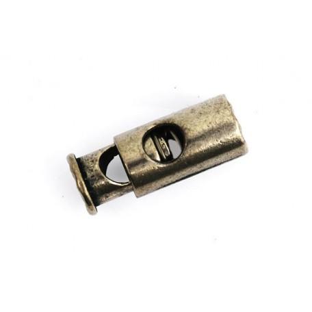 Фиксаторы металлические большие 'цилиндр' in-5 мм 25х9 мм цв.никель черный