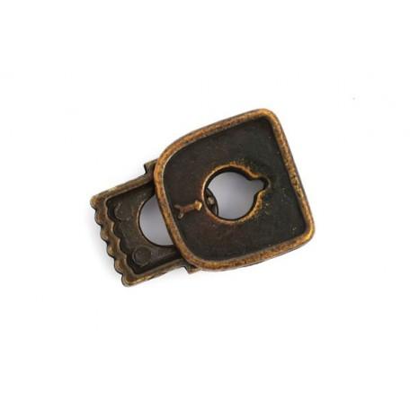 Фиксаторы 'замок' цв.антик in-6 мм 22х15х5 мм