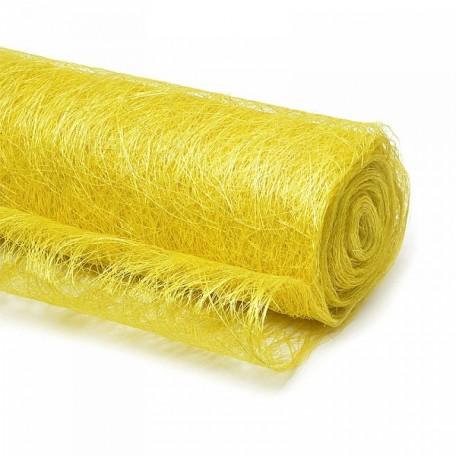 Абака арт.ZA.A22 цв.желтый 48см х 9м