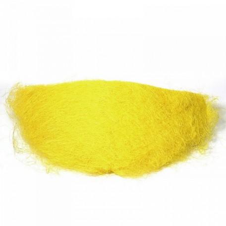 Конус для букета, сизаль арт.ZA.SS-60-30-Y 60х30см цв.желтый