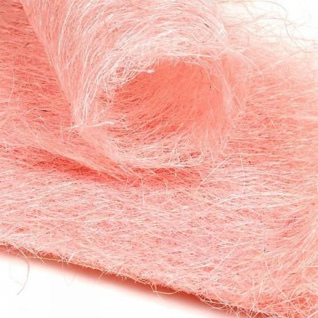 Набор упаковки для букета, сизаль арт.Ц7.WF13109MP60, 60х30 см цв.светло-розовый уп.10шт