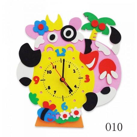 Набор для творчества из фоамирана Часы Буренка арт.КК.CL010