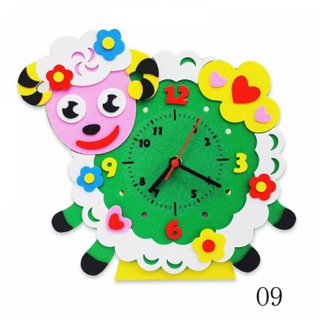 Набор для творчества из фоамирана Часы Овечка арт.КК.CL009