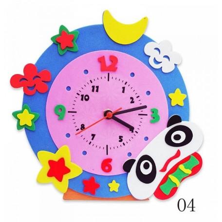 Набор для творчества из фоамирана Часы Панда арт.КК.CL004