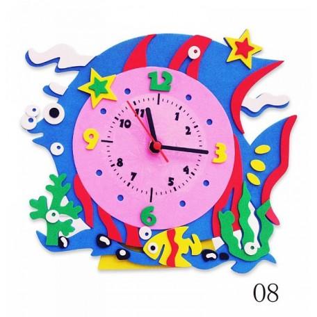 Набор для творчества из фоамирана Часы Рыбка арт.КК.CL008