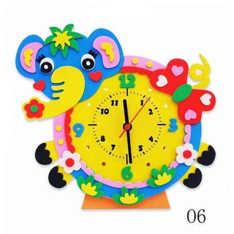 Набор для творчества из фоамирана Часы Слон арт.КК.CL006