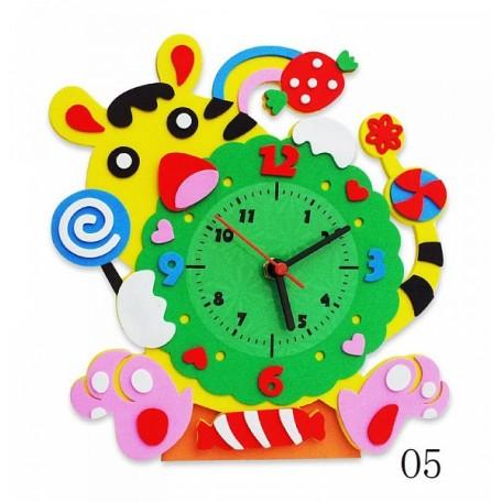 Набор для творчества из фоамирана Часы Тигр арт.КК.CL005