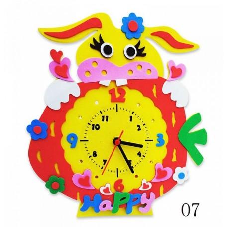 Набор для творчества из фоамирана Часы Зайка арт.КК.CL007