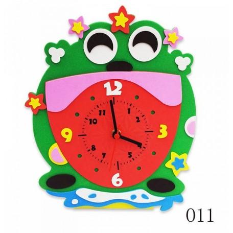 Набор для творчества из фоамирана Лягушка Часы арт.КК.CL011