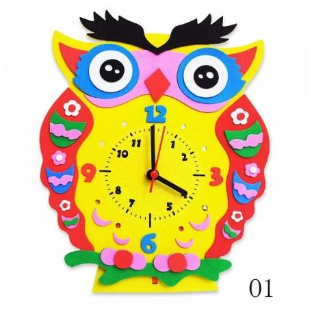 Набор для творчества из фоамирана Сова часы арт.КК.CL001