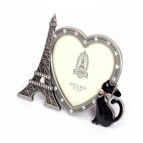 Фоторамка со стразами 'Париж' арт.723816 (8х8см) 12х10см