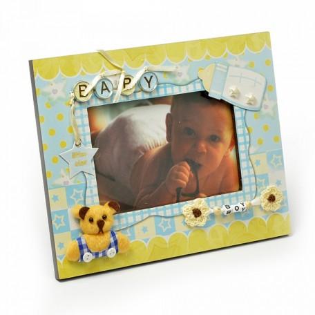 Фоторамка декорированная арт.JX-PF 2161 baby boy 24x19 см