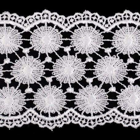 Кружево гипюр арт. КМС-3096 шир.73мм цв.белый уп.13.71м