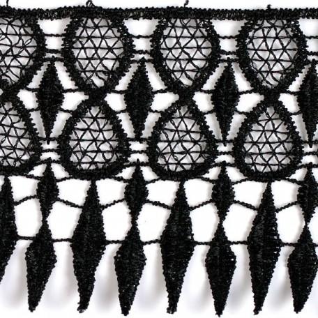 Кружево гипюр арт. КМС-4006 шир.90мм цв.черный уп.13.71м