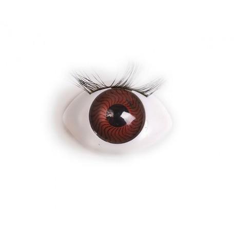 Глаза арт. TBY.TK-22 с ресницами цв. коричневый упак 100шт.