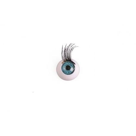 Глаза арт. TBY.TR-14 с ресницами цв. бирюза с рисунком