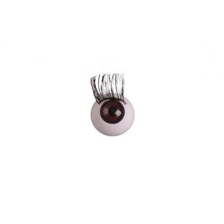 Глаза арт. TBY.TR-14 с ресницами цв. коричневый упак. 100шт.