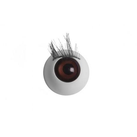 Глаза арт. TBY.TR-20 с ресницами цв. коричневый упак 100шт.