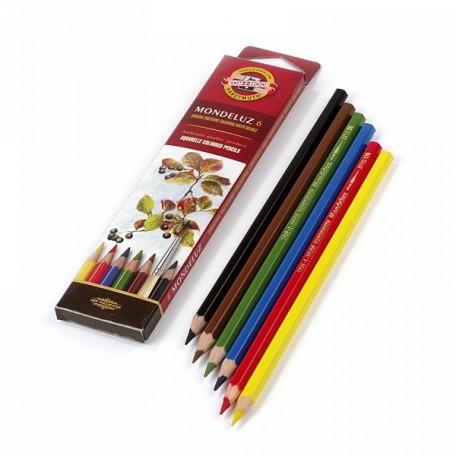 Набор акварельных цветных карандашей арт.НП.3715006001KSR Mondeluz KOH-I-NOOR 6цв.