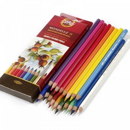 Набор акварельных цветных карандашей арт.НП.3717018001KSR Mondeluz KOH-I-NOOR 18цв.